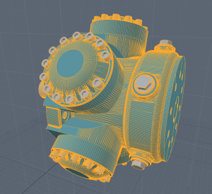 "Screen of import as a ""CAD Item"". Then changed into a regular Mesh item."