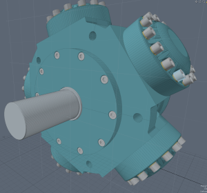 "Screen of import as a ""regular"" Mesh item in MODO 901."